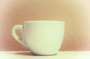 Fotografia stile vintage di una tazzina di caffè