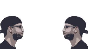 Immagine duplicata e specchiata di Davide bardini. stile cartone
