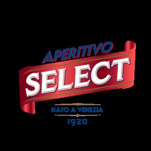 """Logo Select- Le scritte titolano:""""aperitivo select nato a venezia 1920"""""""