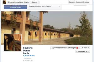 Oltre al sito internet aziendale ci occupiamo di social marketing. Qui foto della pagina aziendale di cuderiadonnalucia su facebook