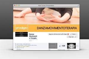 Occupandoci di social marketing curiamo le tue pagine facebook. Qui la foto della pagina aziendale di danzamovimentoterapia