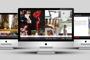 Creiamo siti internet. Qui la visualizzazione delle pagine del sito fotopiccinni.com su 3 imac