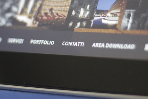 Realizziamo siti internet interamente responsive. Qui nella foto visualizzazione iPad di fotopiccinni.com