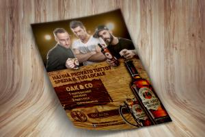 Lo studio ha curato la campagna pubblicitaria italiana per Oakheart. Qui una locandina che ritrae i testimonials su sfondo di legno