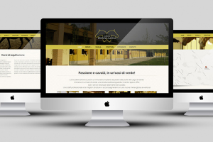 Il sito internet aziendale per scuderiadonnalucia.it. 3 rappresentazioni su dispositivi mac