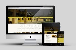 visualizzazioni di vari dispositivi del sito internet aziendale con la home page di scuderia donna lucia