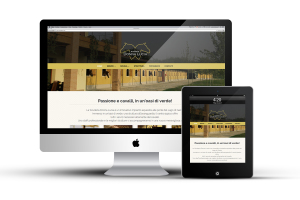 Sito internet aziendale per scuderia donna lucia. Qui Visualizzazione ipad e mac home page del sito