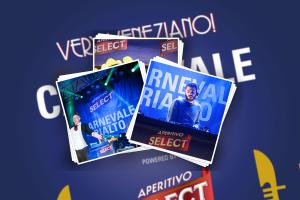 Oltre alle magliette, qui alcune foto dell'evento Select al carnevale di Venezia