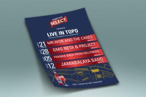 Volantino Select evento Live in topo