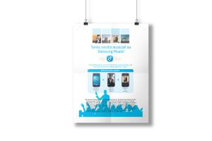 Una parte del materiale grafico per samsung social stage. Qui la locandina Samsung social stage
