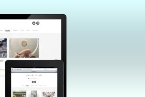 closeup su due dispositivi per il sito web di Chiara Alessi