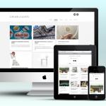 Realizzazione del sito web per Chiara Alessi. Qui una visualizzazione del responsive design del sito