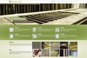 Partendo dal logo aziendale, lo studio ha curato il sito internet.Qui la home page del sito. Un anta in close-up più il menu