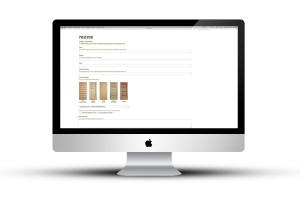 Partendo dal logo aziendale, lo studio ha curato il sito internet. Visualizzazione della pagina preventivi
