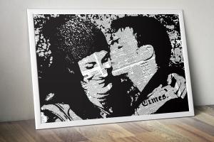 7emezza si occupa di realizzazione quadri. L'immagine di un quadro che raffigura due amanti