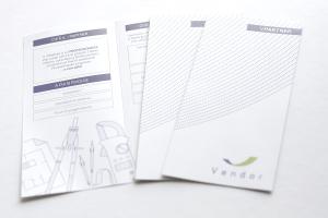 materiali grafici per vendor, qui dei pieghevoli per v-partner