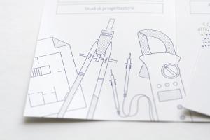 Materiali Grafici per vendor, qui un close-up del volantino