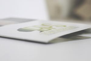 Altra visualizzazione del logo aziendale BPS impresso sulla brochure