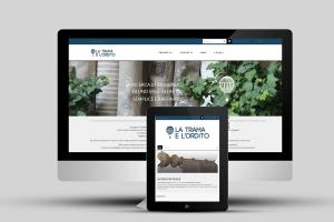 Una visualizzazione del sito internet, su imac e tablet, di tramaeorditotessuti.com