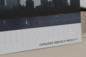 Lo studio si occupa della realizzazione grafica aziendale. Nell'immagine una brochure aziendale