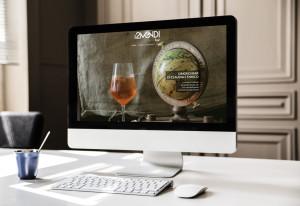 Nell'immagine il lavoro di grafica sulla home page del sito
